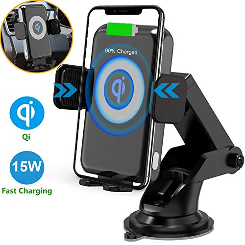 Qidoe 15W Fast Wireless Charging Car Mount for Galaxy Smartphone