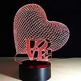 wangZJ regalo di San Valentino lampada 3D luce notturna a LED 7 colori lampada da tavolo decorazioni per la casa lampadina sensore di tocco luminarias per moglie regalo/amore 4