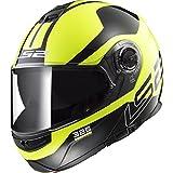 LS2 Helmets Modular Strobe Helmet (Zone Hi-Vis - Medium)