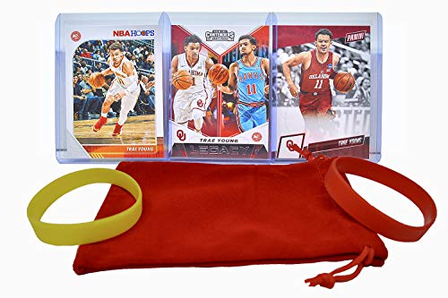 Trae Young Basketball Cards Assorted (3) Bundle - Atlanta Hawks Trading Card Gift Pack
