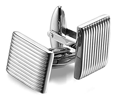 Men's High-Polished 316L Stainless Steel Cufflinks with Gift Box – Premium Quality Lifetime Guarantee