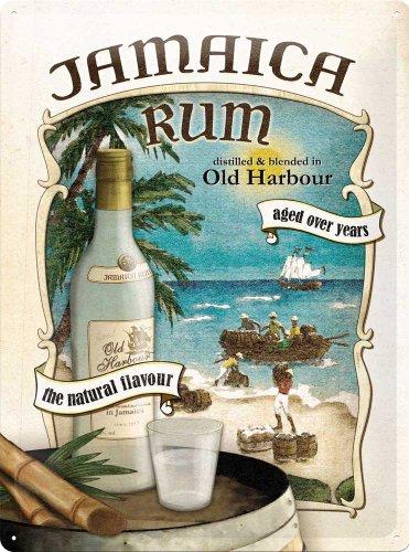 Empire Plaque Vintage Jamaica Rum – Idée de Cadeau pour Les Amateurs de Rhum, en métal, Design Retro pour la décoration, 30 x 40 cm