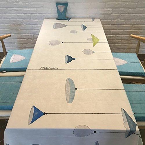 Nappe européenne nappe nappe minimaliste moderne nappe rectangulaire nappe de thé daim bleu nappe blanche (Couleur : A, taille : 180 * 140cm)