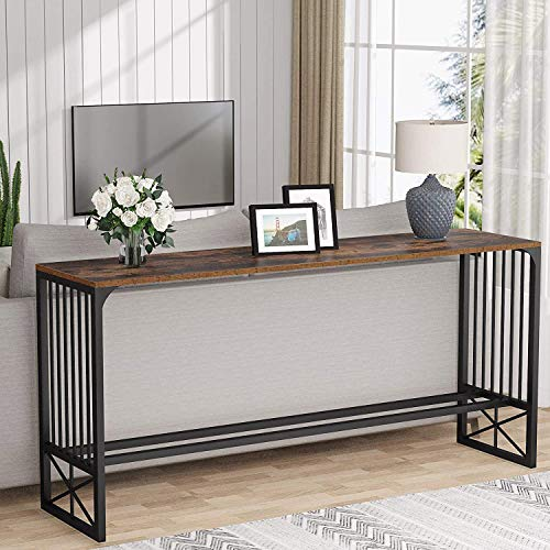 Tribesigns 70.9 inch Extra Long Console Table, Rustic Industrial Sofa Table Behind Couch, Narrow Long Entryway Hallway Table for Living Room