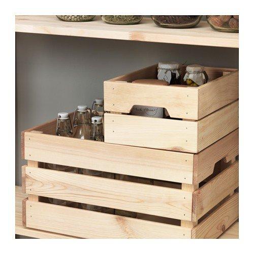 Ikea 102.923.57 KNAGGLIG-Caja de madera de pino maciza (23 x 31 x ...