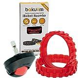 Pack 2 neumáticos + Rueda Delantera Color Rojo para iRobot...