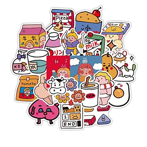WYDML Japón y Corea del Sur, Laboratorio de oxígeno, Pegatinas para Ordenador, Pegatinas para teléfono móvil, Pegatinas para portátil, Pegatinas para Carcasa Trasera, Impermeables, 48 Uds.