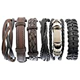 MJARTORIA Homme Bracelet de Main Cuir Artificiel Tressé Corde Multicouche Leather...