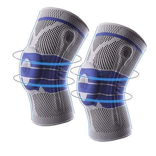 1 Paar Knie-Stützhülsen, Sport-Knie-Kompressionshülsen, Arthritische Kniebandage, Gelenkschmerzen, Arthritis, Laufen und Übung,M