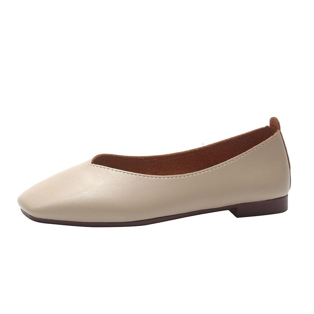 説得力のあるパシフィックトランジスタパンプス Florrita レディース シンプル靴 無地 Vカット スクエアトゥ ぺたんこ フラット 浅履き モカシン バレエシューズ 柔らかい 歩きやすい ローヒール カジュアル バレエ オフィス 旅行 春夏秋 婦人靴