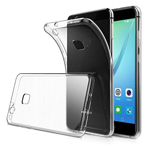 Amonke Huawei P10 Lite Hülle Handyhülle Für Huawei P10 Lite 2017 - Soft Flexibel Silikon Transparent Case, Ultra Dünn Crystal Clear TPU Durchsichtige Schutzhülle Für Huawei P10 Lite