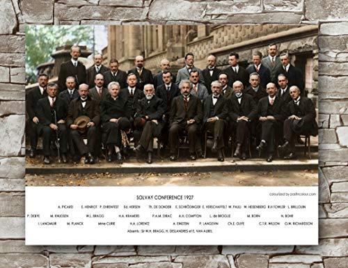 Pôster Zero.o Scientists Solvay Conference tamanho padrão   45,72 cm por 60,96 cm   Pôster de parede com pôsteres clássicos da Scientists Solvay Conference
