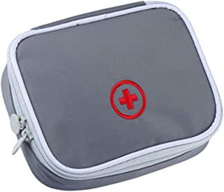 iMapo Portable Mini Travel Medicine Bag, Empty First Aid Kit, Small Medical Organizer Storage Pouch, Package Container for...