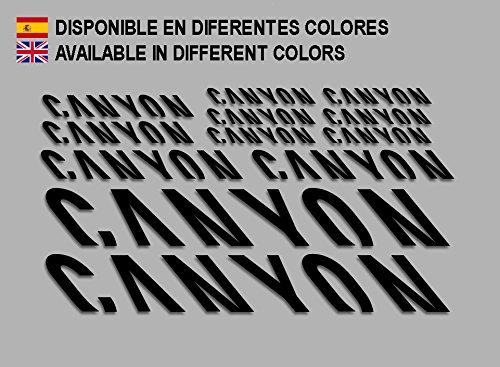 Ecoshirt KS-PGLB-G01E Aufkleber Canyon F157 Vinyl Adesivi Decal Aufkleber ・・・・llavero MTB Stickers Bike, schwarz