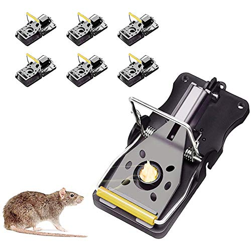 PECHTY Mouse Traps, 6 pcs Professional Mouse Bait Powerful Reusable Rat...