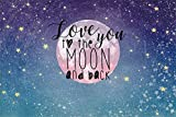HD Baby Shower Backdrop 10x7ft Love You to Moon and Back Photography Background Starry Sky Theme Decoration Infant Newborn Child Girls Daughter Artistic Portrait Photobooth Props Wallpaper