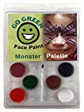 Go Green Face Paint - 6 Washable - Non Toxic Water Based Painting Kit for Kids with The Highest Safety Rating - Works...