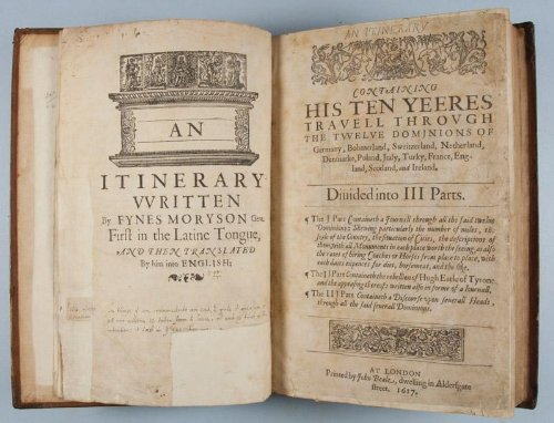 An Itinerary Compiled By Fynes Moryson Gent. First in Latine Tongue... - 51+G83bZvBL