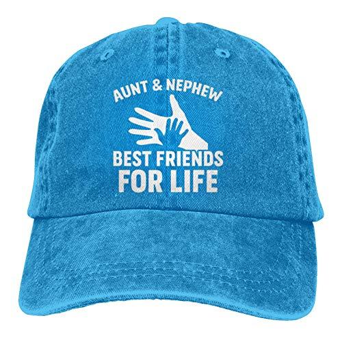 Jopath Gorra de béisbol unisex ajustable con texto 'Aunt Nephew Best Friends'