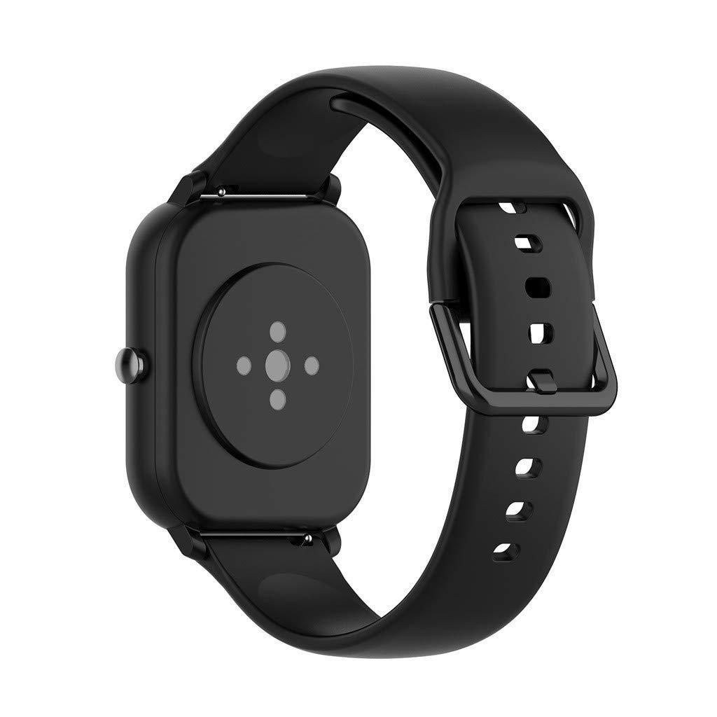 riou Correa Compatible con Xiaomi Huami Amazfit GTS ,Correa de Reloj Banda de Reemplazo Silicona Suave Sports Pulsera Reloj Inteligente,130+87mm: Amazon.es: Electrónica