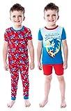 Komar Kids Boy's Sonic Four-Piece Short Sleeve Cotton Set (Little Kids/Big Kids) Red 4 Little Kids