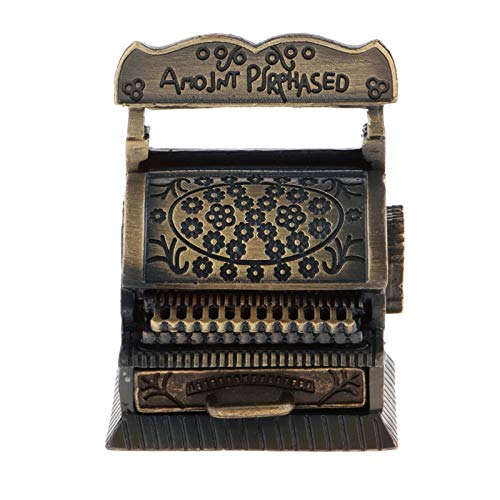 LiChaoWen Vintage Cash Register Modelo 1/12 Miniatures Miniatures Accesorios Juguetes Caja registradora de Juguete (Color : As Shown, Size : 30x16x13cm)