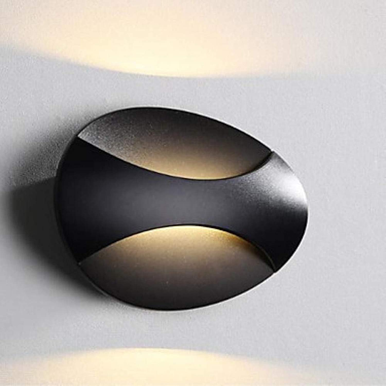 Neue design led moderne wandleuchte schlafzimmer esszimmer metall wandleuchte 6  14,5  21@Schwarz