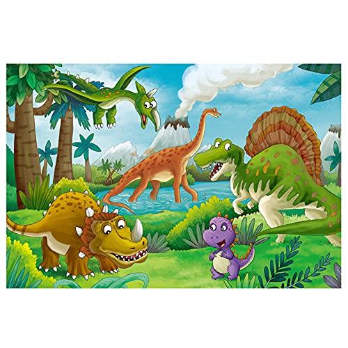 Dorime Dinosaurio Rompecabezas para niños de Juguete 100 Piezas Puzzles de Dibujos Animados Juguetes educativos para niños de Juego de Puzzle Niños Juguetes Ma5