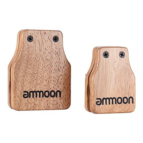 Ammoon groß und mittelgroß Box Cajon 2pcs Trommel Companion Zubehör Kastagnetten für Schlaginstrumente manuell