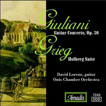 Giuliani: Guitar Concerto, Op. 30 / Grieg: Holberg Suite