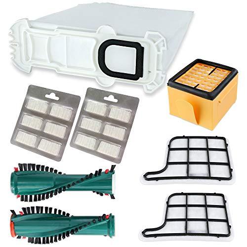 Swyp Lot de 12 sacs d'aspirateur et 3 filtres parfumés compatibles avec Vorwerk Kobold VK135