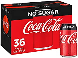 Coca-Cola No Sugar Soft Drink Multipack Cans 36 x 375mL