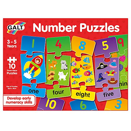 Galt Toys, Number Puzzles, Numbers Jigsaw Puzzle for Kids, Ages 3 Years Plus