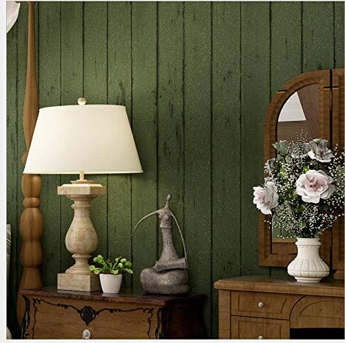 Tapete Beige 0.53 x 10m, Mediterrane dunkelgrüne Holzmaserung Tapete Vlies Retro Bekleidungsgeschäft Fotografie Hintergrund Fachgeschäft @ Dark_green