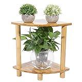 Boquite Pflanzenregal, freistehende Ecke fächerförmige Pflanzenhalter Topfpflanzen Regal Blumenregal(高40cm)