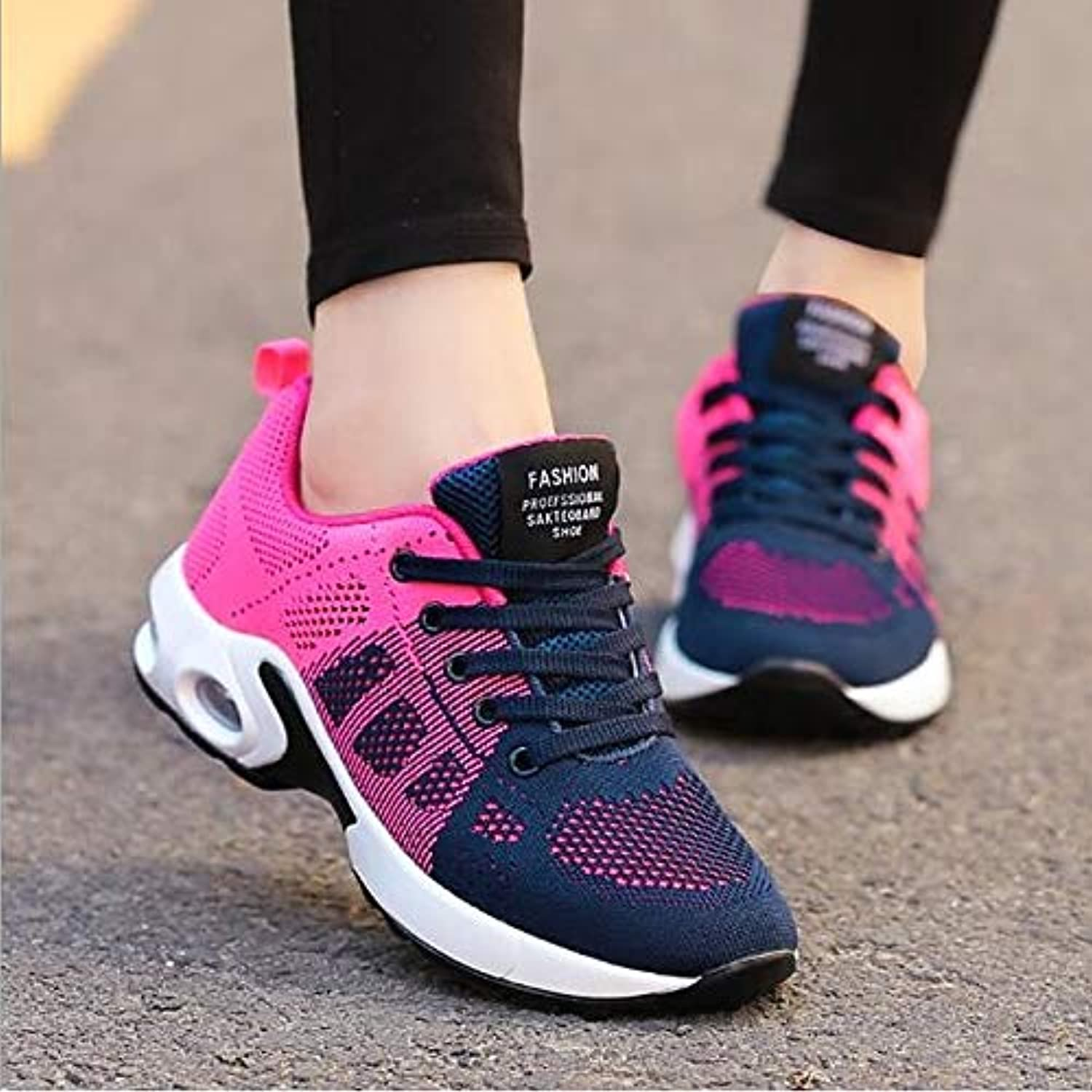 Women's shoes Breathable Mesh Spring Fall Comfort Sneakers Creepers Purple Pink   Black Red