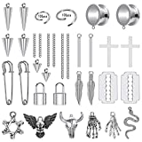 ZS 230 Pieces DIY Ear Tunnels Accessories Dangle Gauges Body Piercing Jewelry, Stainless Steel 4g - 7/8 inch Dangle Ear Gauges for Women/Men (Gauge=4g(5mm))