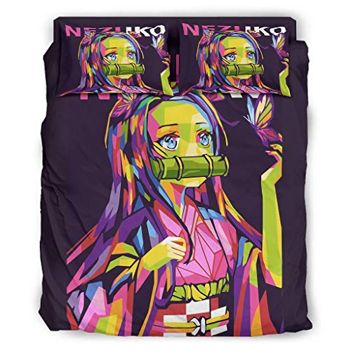 Ballbollbll Demon Popart Super Soft And Comfortable Duvet Cover - 4 Piece Bedding With 2 Pillowcases, 1 Sheet and 1 Duvet Cover white 240x264cm