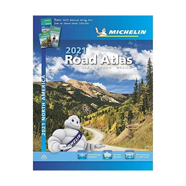 Road Atlas 2021 - USA, Canada, Mexico (A4-Spiral): Tourist & Motoring Atlas A4 spiral (Michelin Road Atlases 2020)