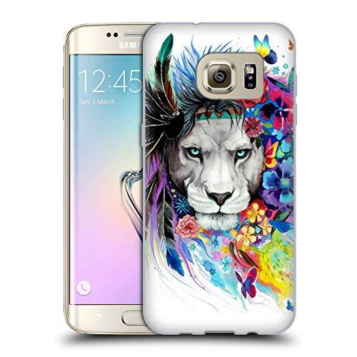 Head Case Designs Licenza Ufficiale Pixie Cold Il Re dei Leoni Gatti Cover in Morbido Gel Compatibile con Samsung Galaxy S7 Edge