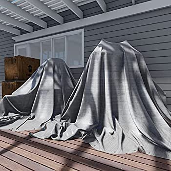 TANG Sunshades Depot 12 x 16 Feet Heavy Duty 10 Mil Waterproof Silver Poly Tarp Multi Purpose Waterproof Poly Tarp Cover Reinforced Rip-Stop with Grommets