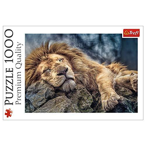 Trefl 10447 1000 Teile, Premium Quality, für Erwachsene und Kinder ab 12 Jahren Puzzle Der schlafende Löwe, Farbig