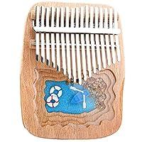 Thumb Piano 17 Keys Kalimba Mahogany樹脂ピアノ、子供のための指の親指の楽器、チューンハンマー、ミクロの風景ピアノ、(17cm x 13cm) A