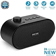 White Noise Machine, Sleep Sound Therapy Machine with 26 High Fidelity Nature Sounds, Portable USB Output Charger, Sleep Sound Therapy for Home,Office,Travel,Baby,Kids and Adults(Black)