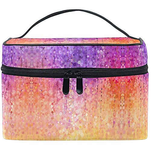 Trousse à maquillage Neon Bubble Travel Cosmetic Bags Organizer Train Case Toiletry Make Up Pouch