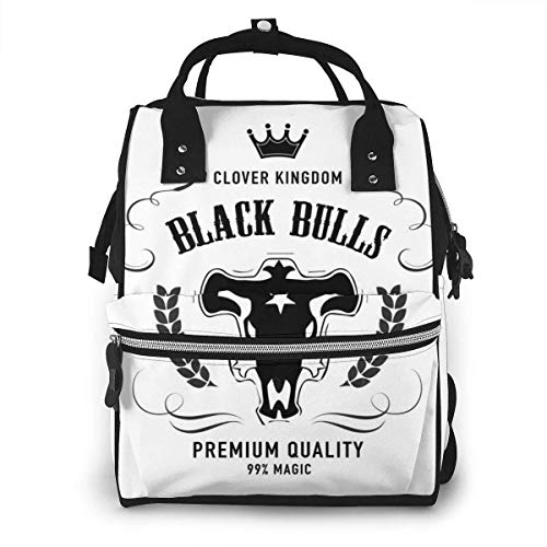 JUKIL Sac à dos à couches Zegailian Black Bulls Whisky Label Fashion Diaper Bags Multi Functions Mummy Backpack