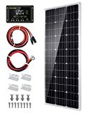 Topsolar Solar Panel Kit 100 Watt 12 Volt Monocrystalline Off Grid System for...