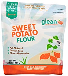 SWEET POTATO FLOUR IN A POUCH PACKAGE