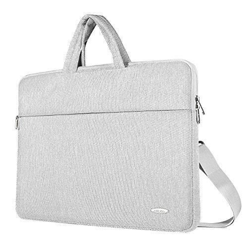ZWOOS 13-13,3 Zoll Laptop Tasche Wasserdicht Laptoptasche Schultertaschen, Business Aktentasche Umhängetasche für MacBook/Lenovo/HP/Acer Swift 1/Acer/Asus/Apple (Grau)