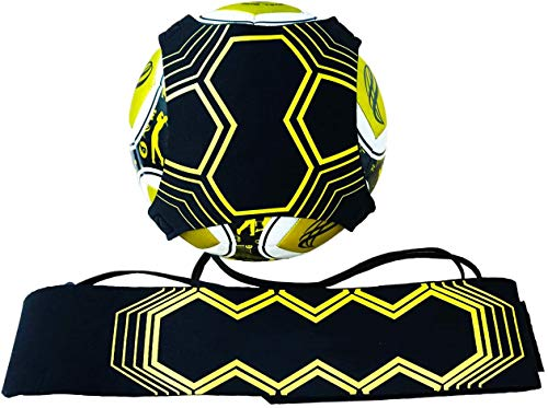 Football Kick Trainer, Soccer Training Aid Widened Side Waist Protection, Adjustable Solo Soccer Trainer Fit for Balls Size 3 4 5 for Kids Adults